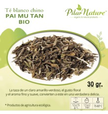 Té blanco chino Pai Mu Tan, BIO, 30 g Pilar Nature