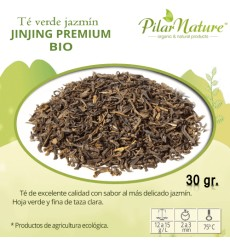 Té verde chino JAZMÍN  jinjing PREMIUM, BIO, Pilar Nature, 30 g