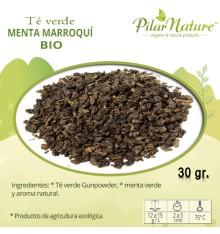 Té verde menta marroquí BIO, 30 g. Pilar Nature