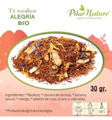 Té Rooibos, ALEGRÍA, Pilar Nature,  BIO, 30 g