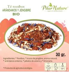 Té Rooibos Arándanos y Jengibre - BIO 30g. Pilar Nature