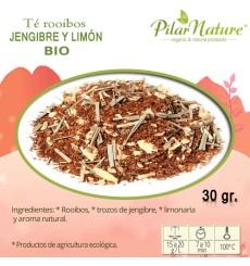 Té Rooibos Jengibre y limón, Pilar Nature,  BIO, 30 g