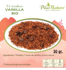 Té Rooibos,  vainilla BIO, Pilar Nature, 30 g