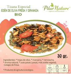 Tisana Especial Edén de Oliva-Fresa-Granada, BIO, Pilar Nature, 30 g