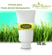 Envase Pasta de dientes  blanqueante 100 ml Pilar Nature