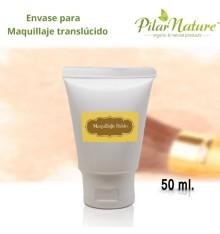 Envase tubo 50 ml maquillaje translúcido antiarrugas Pilar Nature.