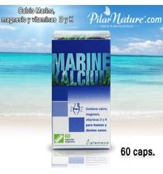 Calcio MARINO, (Calcio, magnesio, vitaminas D y K ) Plameca, 60 cápsulas vegetales