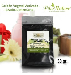 Carbón VEGETAL activado, 30 g, Pilar Nature
