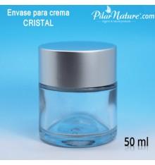 Tarro, envase crema cristal, 50 ml