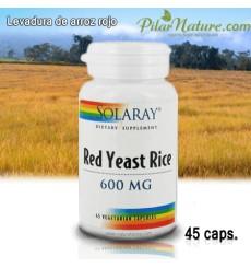 Levadura de Arroz rojo, 600 MG, SOLARAY, 45 cápsulas vegetales
