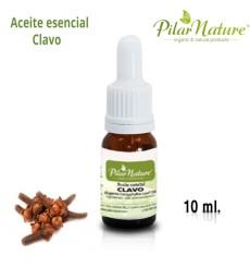 Aceite esencial Clavo  (Eugenia Caroyphyllus Leaf Oil), 100% Puro Pilar Nature, 10 ml