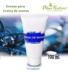 Envase para crema de manos 100 ml Pilar Nature
