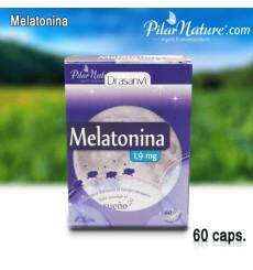 Melatonina 1.9mg, 60 cápsulas, Drasanvi, Pilar Nature