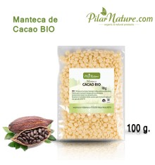 Manteca de Cacao BIO, 100 G. Pilar Nature.