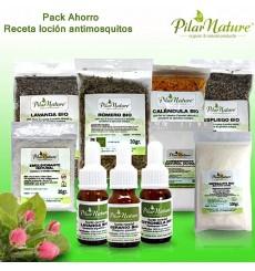 PACK AHORRO receta loción repelente de mosquitos Pilar Nature