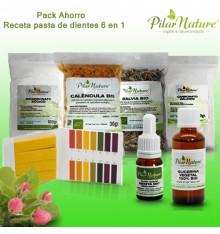 Pack AHORRO Receta pasta de dientes 6 en 1 Pilar Nature