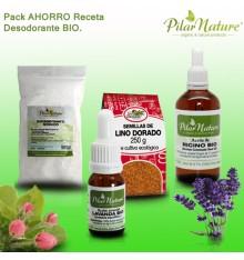 Pack AHORRO Receta desodorante BIO Pilar Nature