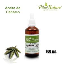 Aceite de Cáñamo BIO (Cannabis sativa) 100 ml Pìlar Nature