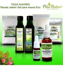 PACK AHORRO Receta Jabón/Gel de manos ecológico Pilar Nature