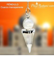 Péndulo Cristal de Cuarzo Facetado (radiestesia) Pilar Nature