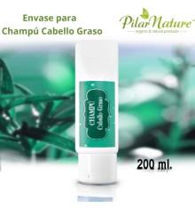 Envase para Champú Cabello Graso 200 ml Pilar Nature