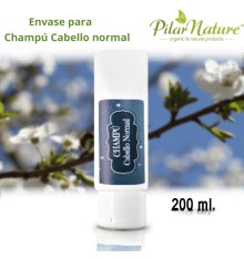 Envase para Champú Cabello Normal 200 ml Pilar Nature