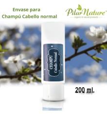 Envase para Champú Cabello Normal 200 ml Pilar Nature