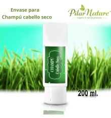 Envase para Champú Cabello Seco 200 ml Pilar Nature
