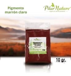 Pigmento Óxido Marrón claro 10 gr. Pilar Nature