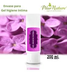Envase para Gel higiene íntima 200 ml Pilar Nature