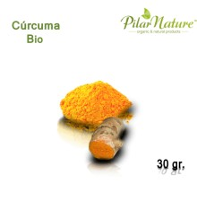 Cúrcuma (Curcuma Longa) de cultivo biológico 30 gr Pilar Nature