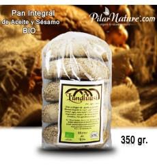 Molletes de aceite y sésamo ecológico 350 gr. (5 uds.)