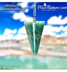 Péndulo cuarzo verde aventurina (radiestesia) Pilar Nature