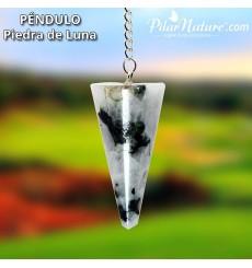 Péndulo piedra  luna (radiestesia) Pilar Nature