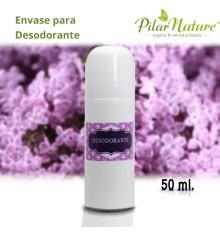 Envase roll-on plástico 50 ml Pilar Nature.