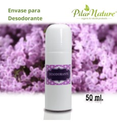 Envase roll-on plástico 50 ml Pilar Nature.