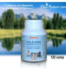 Colágeno con Magnesio, ácido hialurónico y vitamina C, 120 comprimidos, Integralia