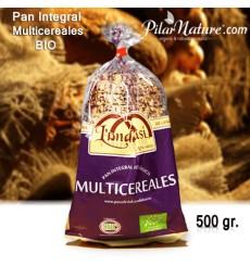 Pan Multicereales, multisemillas (lino, sésamo, amapola), Bio 500 g.