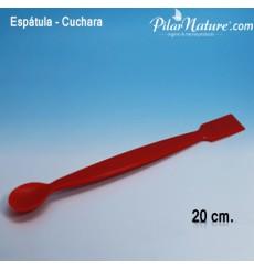 Espátula, cuchara plana, 20 cm
