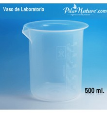 Vaso de laboratorio,PP, 500 ml