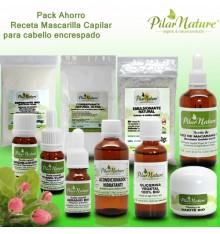PACK AHORRO Receta Mascarilla Capilar / acondicionador desenredante cabello encrespado Pilar Nature