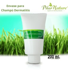 Envase champú para dermatitis 200 ml Pilar Nature