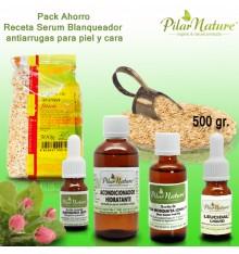 Pack AHORRO Receta Mascariila casera de avena y arroz + Serum blanqueante Antiarrugas Pilar Nature